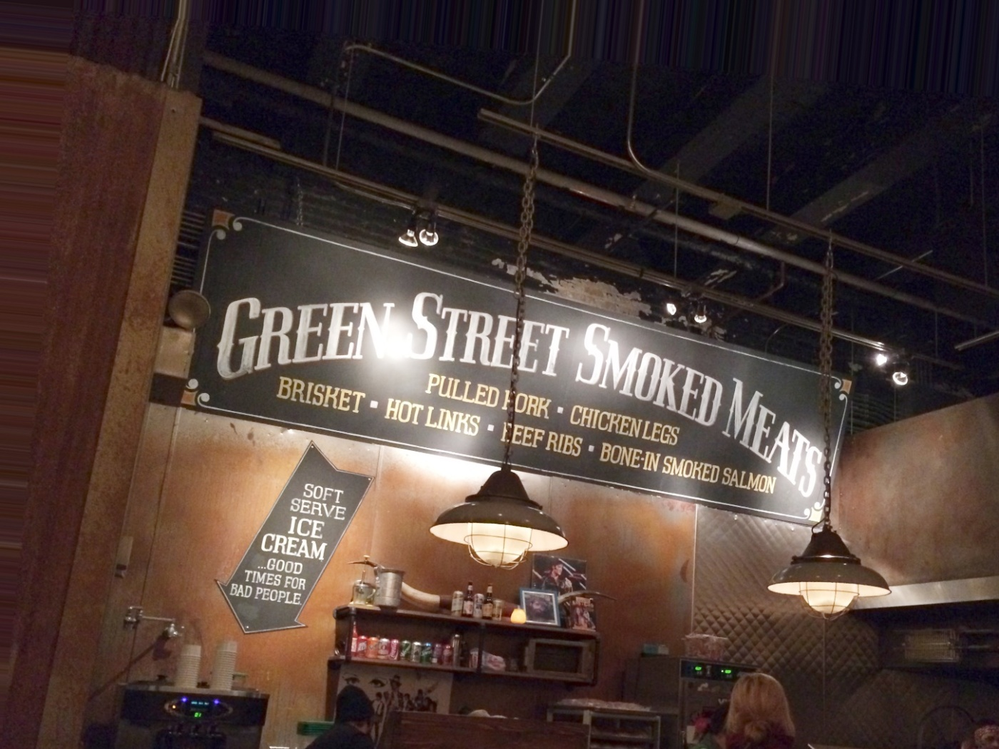 Pick-up counter at Green Street Smoked Meats