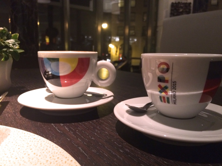 Coffee service at Spiaggia
