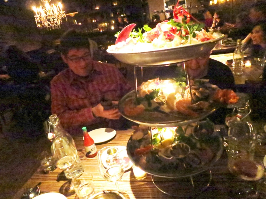 Maude's Seafood Tower
