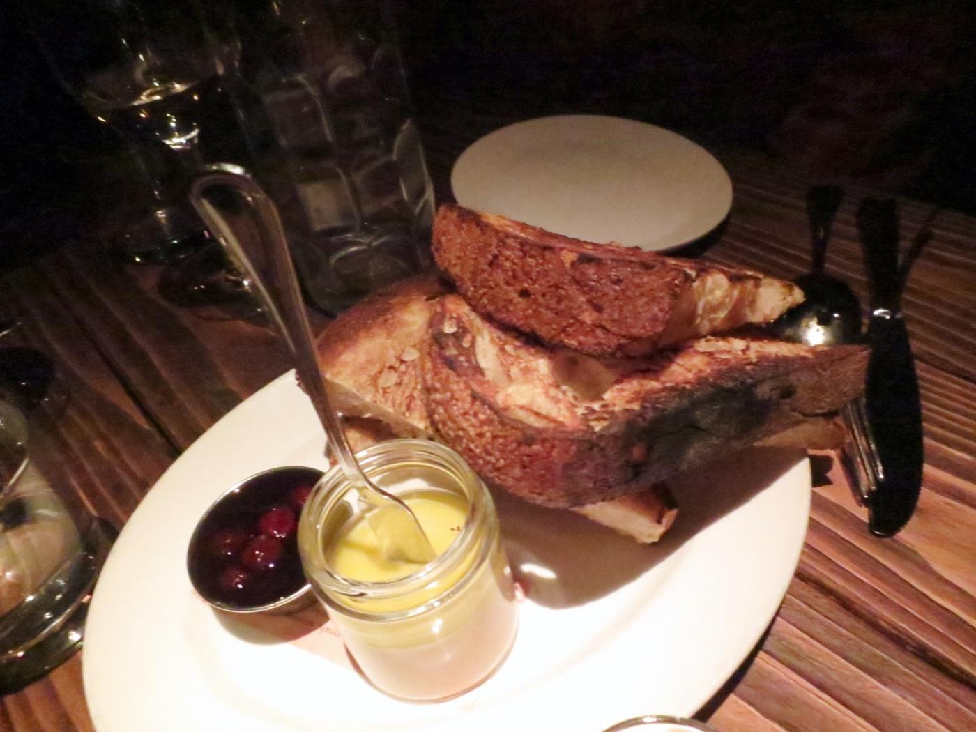 Foie Gras Pate - Quatre, épices, cognac, sour cherry jam ($17)