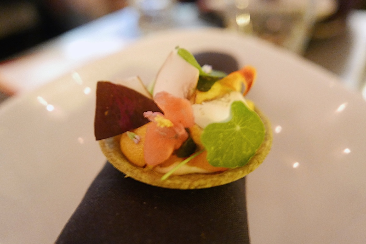 TART Pumpkin, sea urchin, dried mushroom shell
