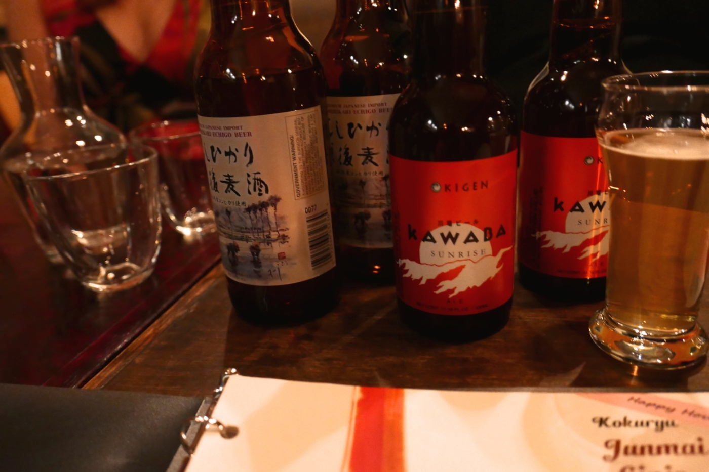 My friends taught us so much about sake and soju.