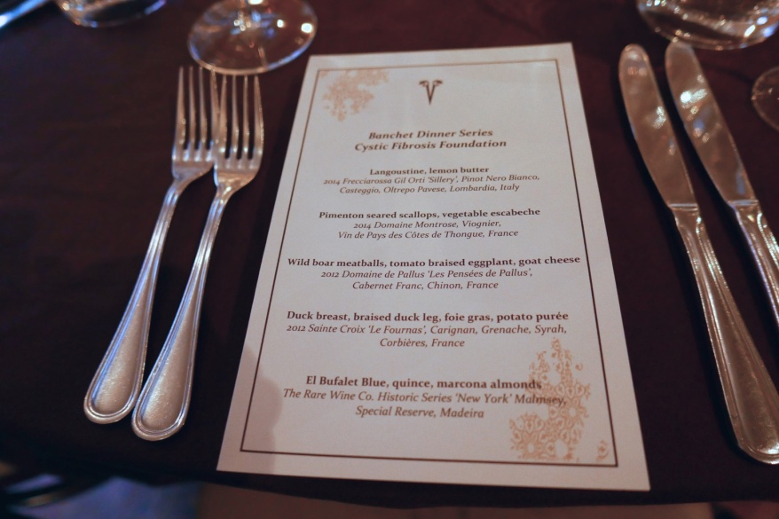 Banchet Dinner Series for the Cystic Fibrosis Foundation at Vera