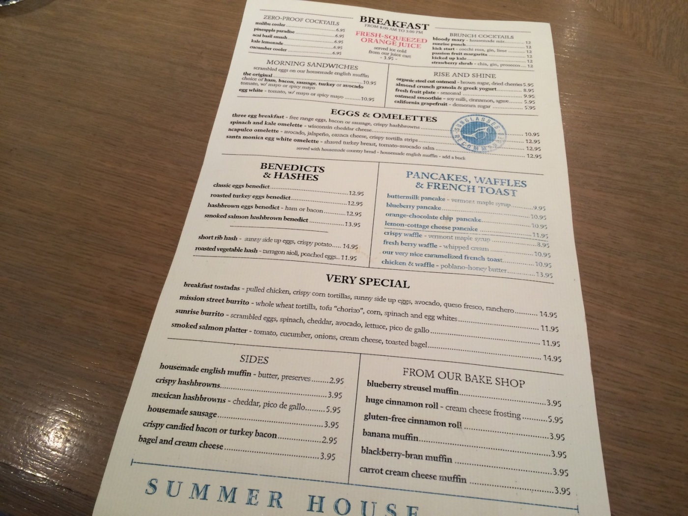 Menu and Summer House
