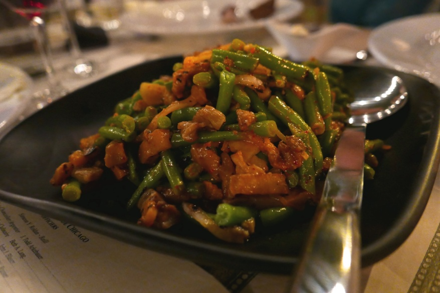 Charred Eggplant and Green Bean Salad, XO Sauce aat The Duck Inn Chicago