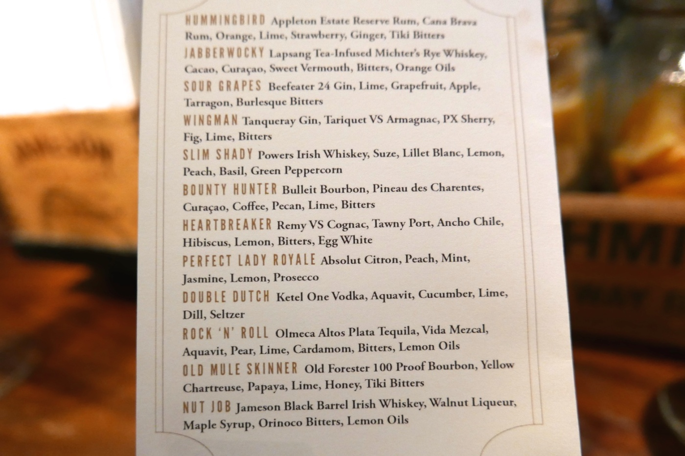 Cocktails at Dead Rabbit Taproom