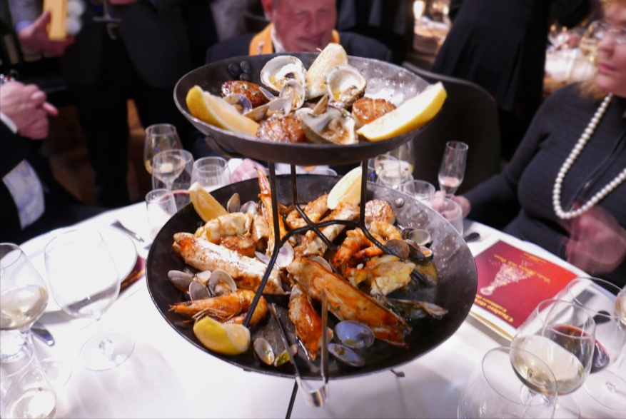 Roasted Seafood Tower, garlic butter, chili oil