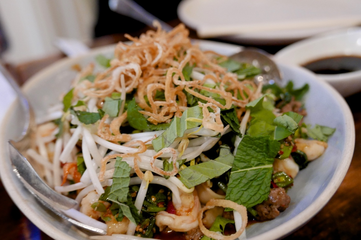 Goat and Shrimp Slap Noodles, Chicken Chow Fun