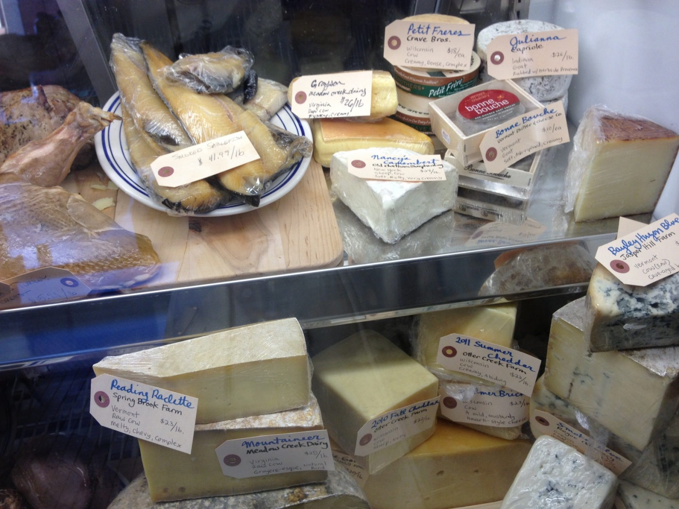 Cheeses at Publican Quality Meats
