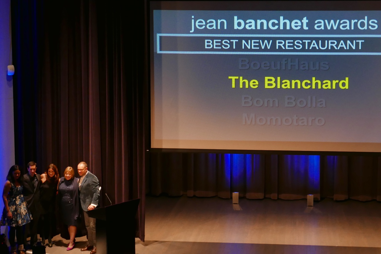 Best New RestaurantBoeufHausBom BollaMomotaro WINNER: The Blanchard