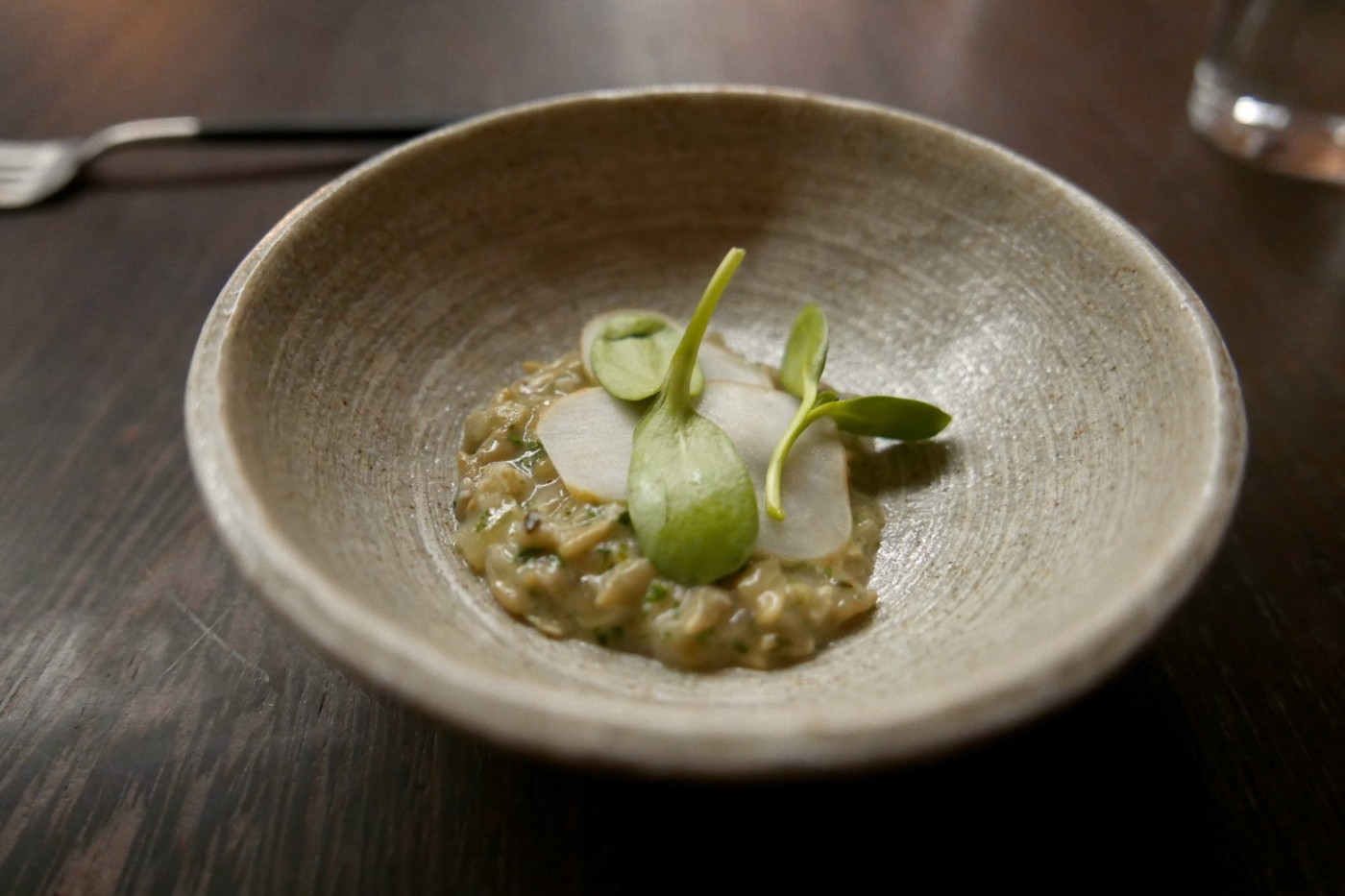 Risotto of Sunflower Seeds, Fermented Sunflower Root