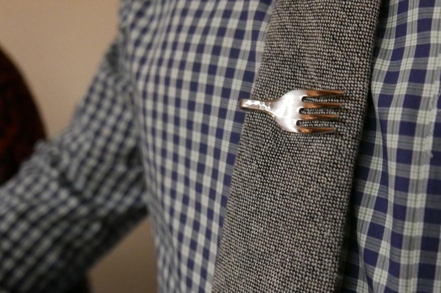 Fork tie clip