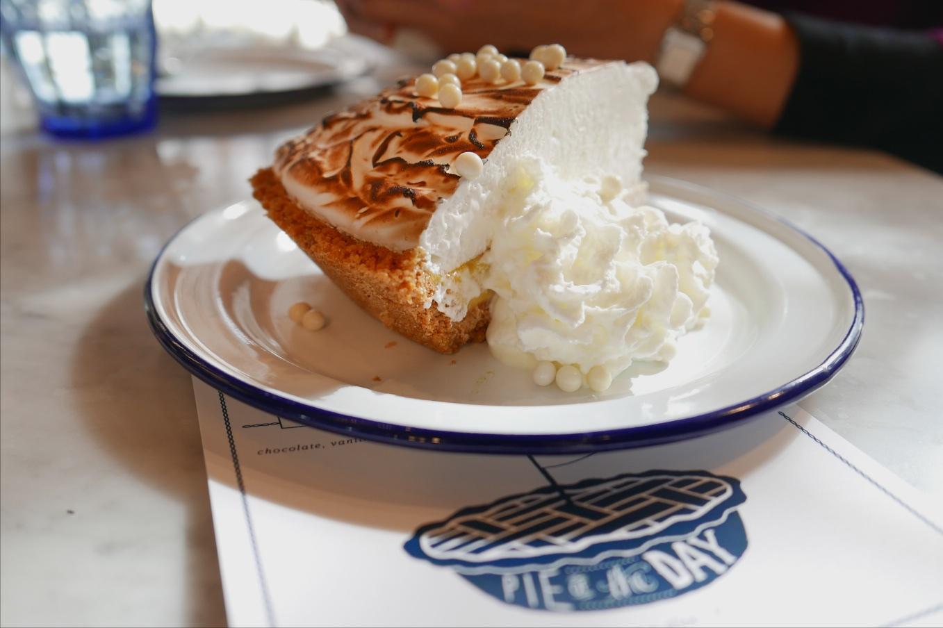 Pie of the Day was Blood Orange Cream PIe
