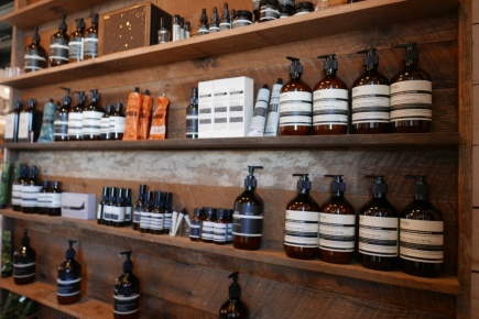 Aesop beauty line at imogene + willie