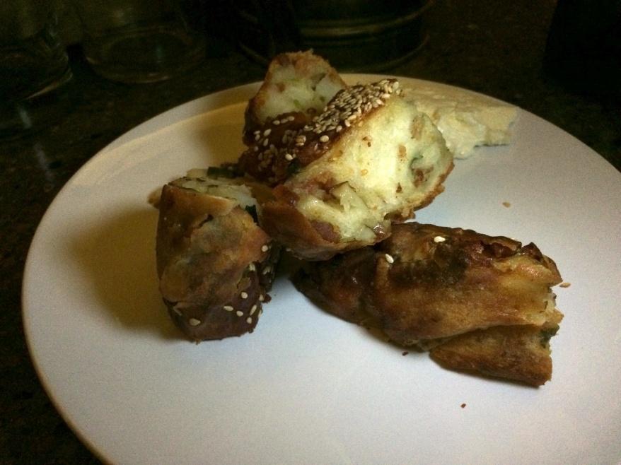 Baked potato bing bread, bacon, scallion and sour cream butter ($4)