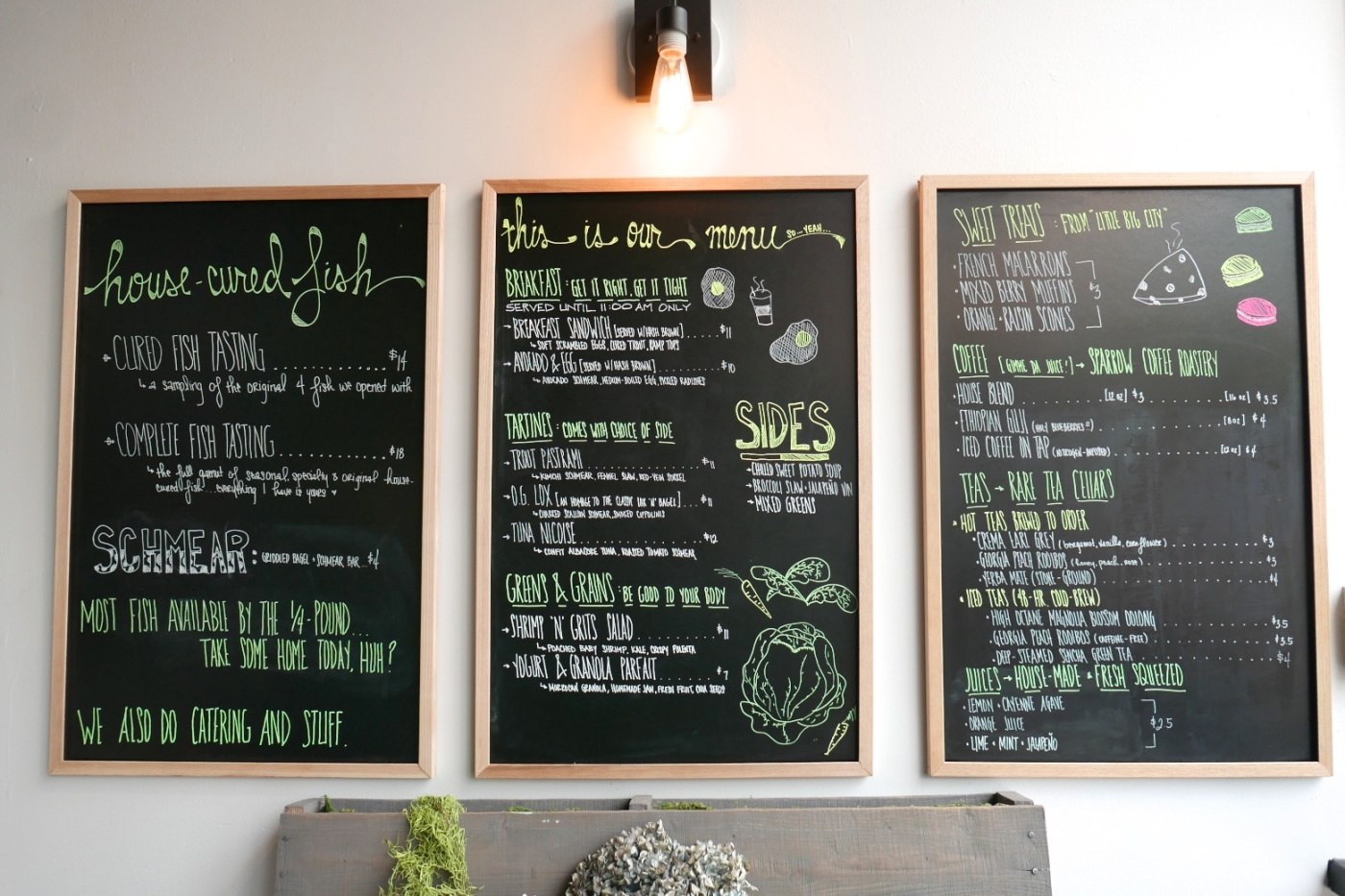 Menu of the Day at Snaggletooth