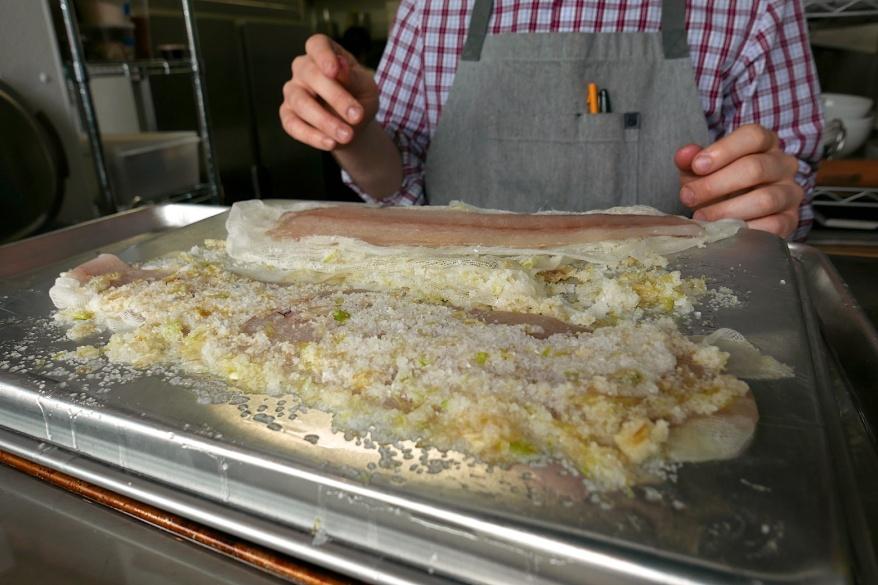 Cheesecloth, citrus juice, zest and salt