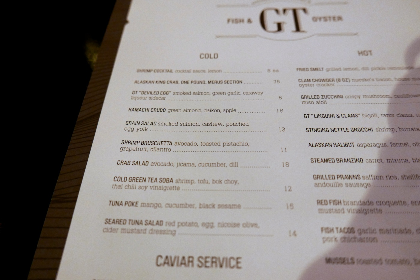 GT Fish & Oyster, 531 N Wells St, Chicago, IL
