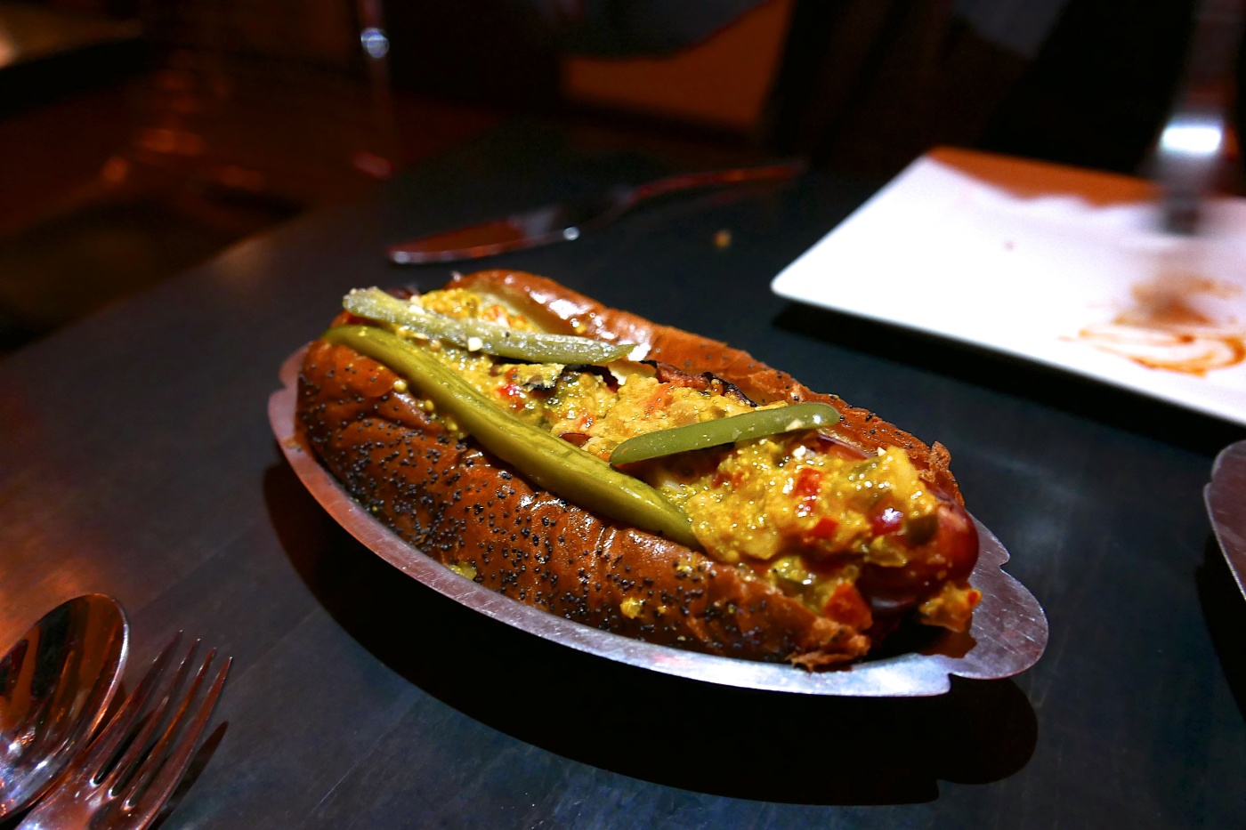 Duck Fat Dog, Chicago Style, Instant Pickle ($10)