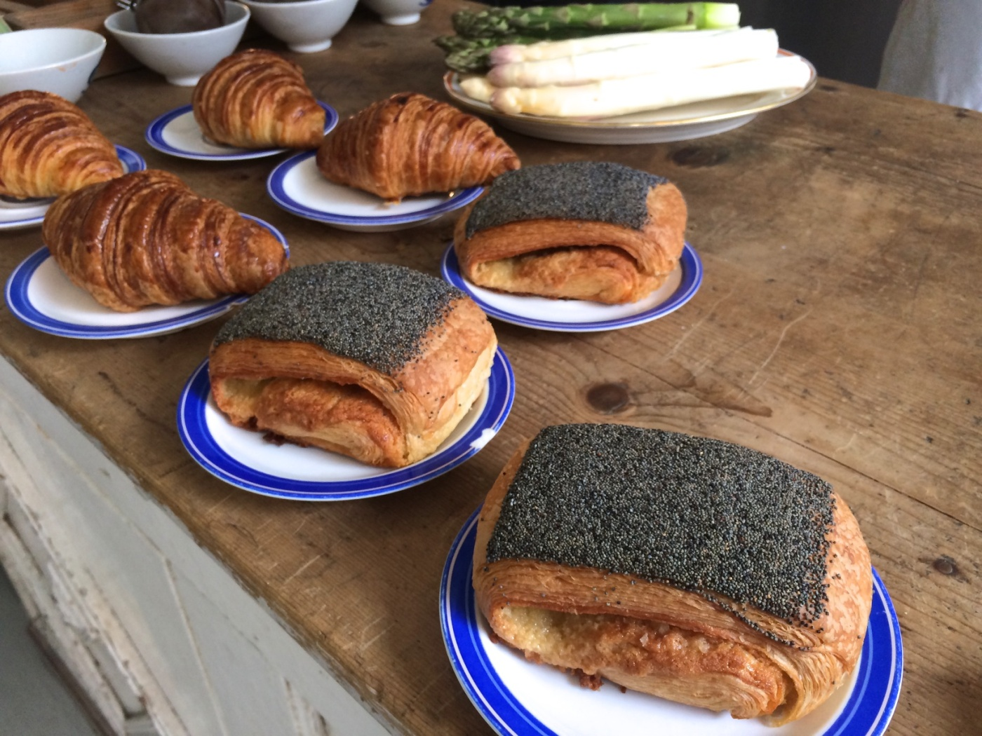 Te Birkes Danish, remonce, poppy seeds and croissants at Atelier September