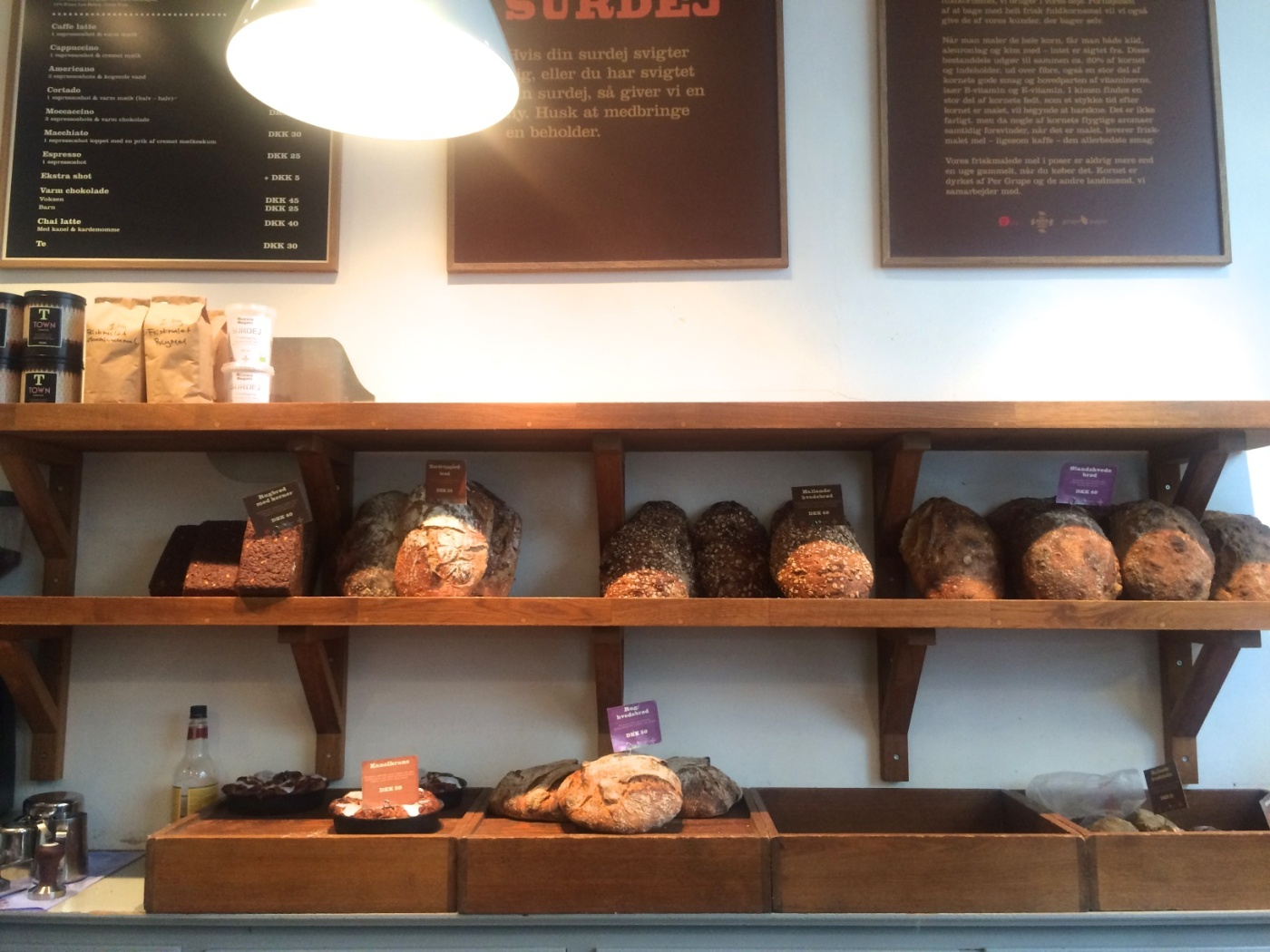 The bread in Copenhagen is excellent. The ones from Meyers are top.