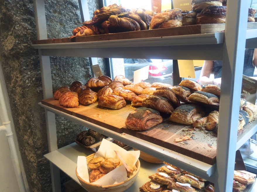 Pastries in the window