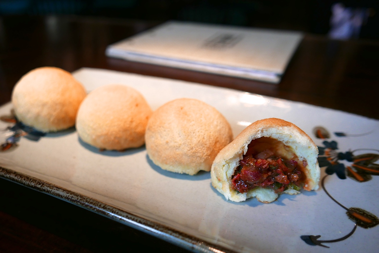 Char Siu, BBQ pork, baked bun