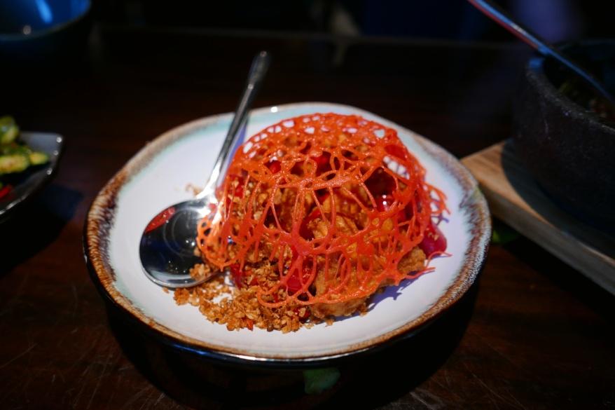 Hot Garlic Chicken, Szechuan peppercorn, dried red chili