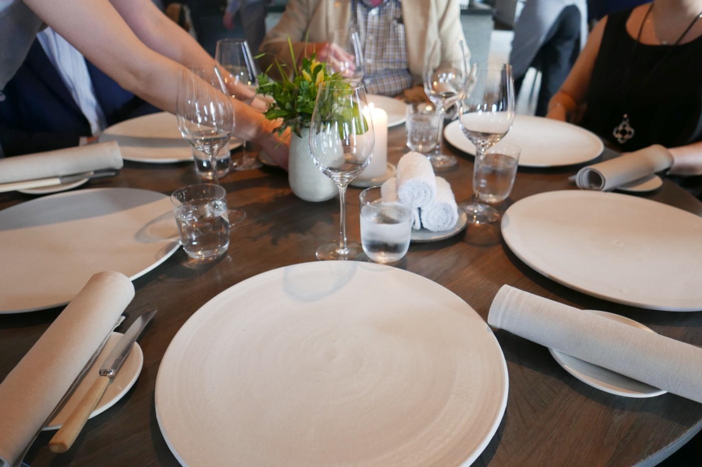 Table setting at Noma