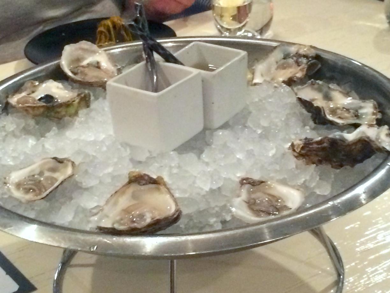 Oysters, GT cocktail sauce, ponzu mignonette
