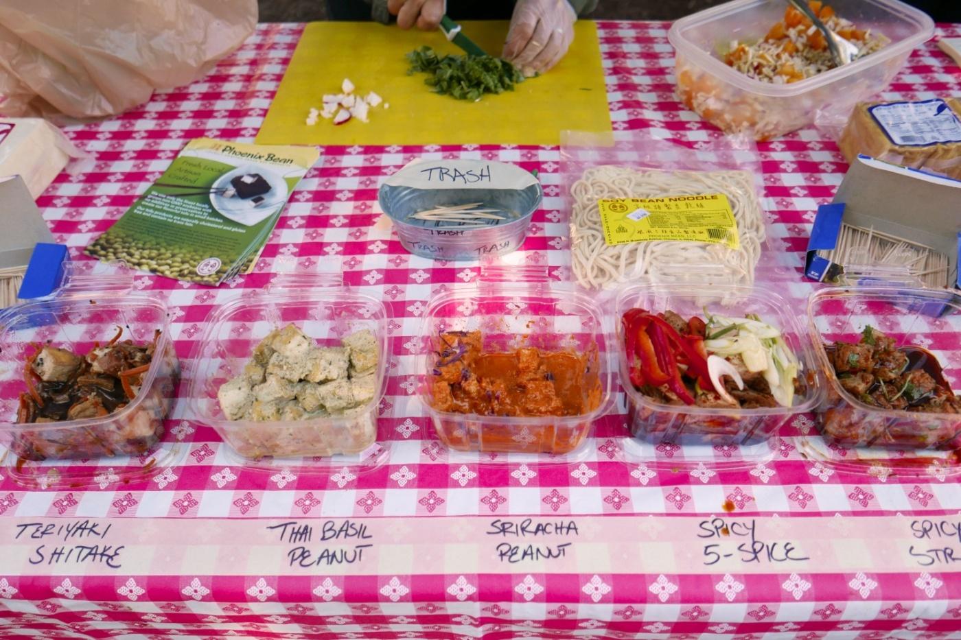 Phoenix Bean has ready-made marinated tofu salads.