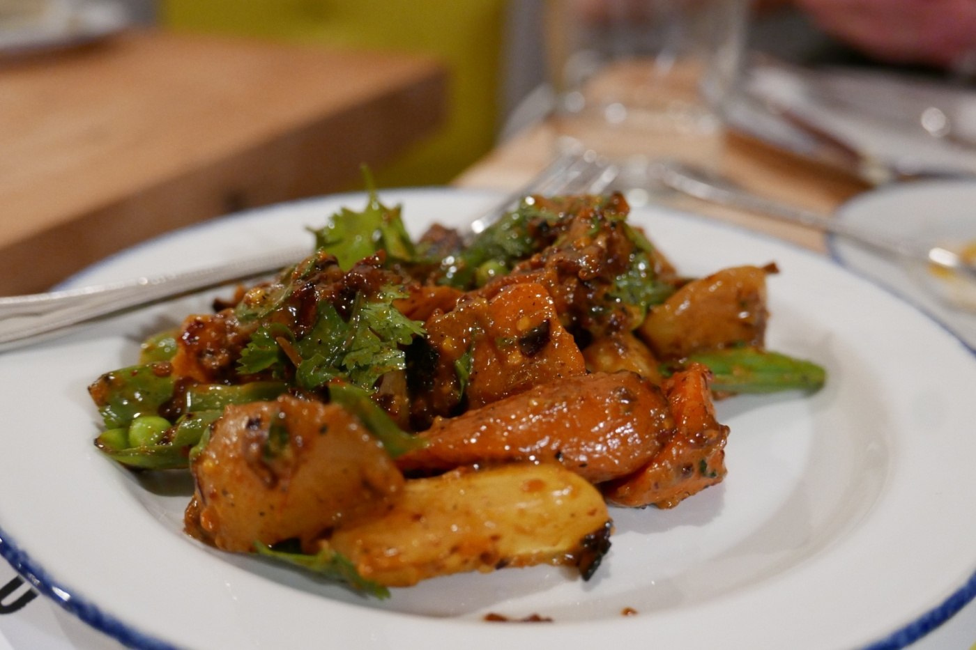 Thai Chili Carrots, peanut, scallion, mint