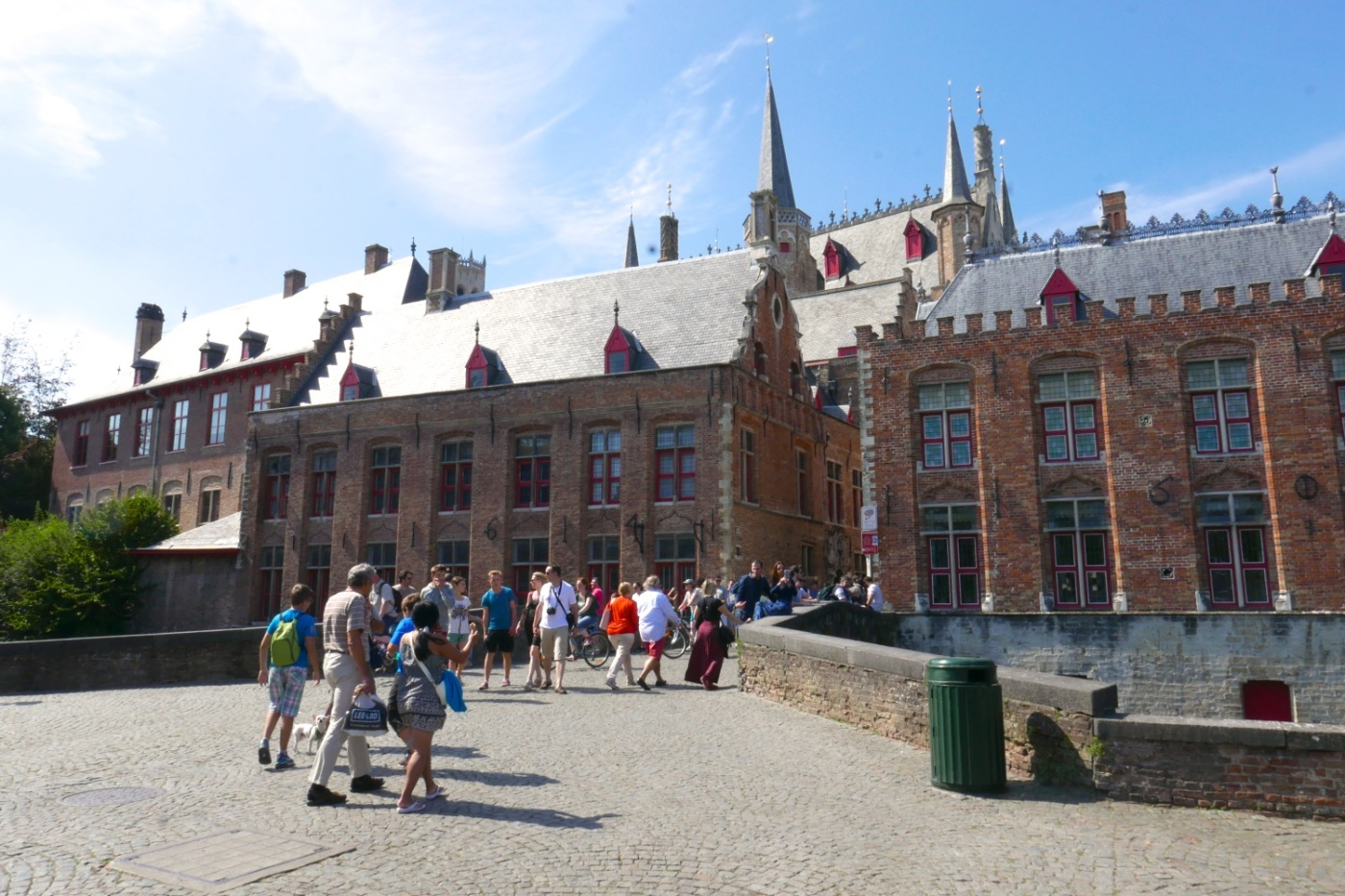 Bistro Bruut is next to one of Bruges' most picturesque canals.