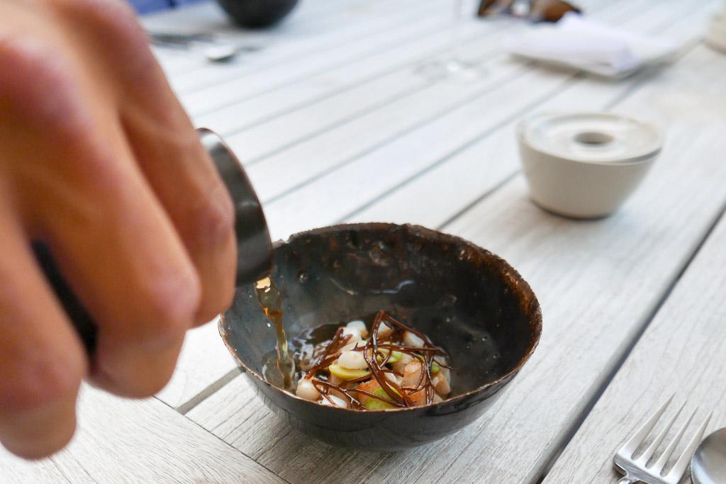 Squid, miso, black garlic