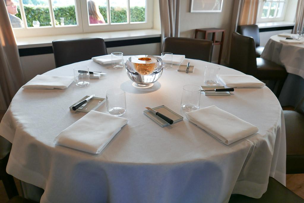 Main dining room at Hof Van Cleve.