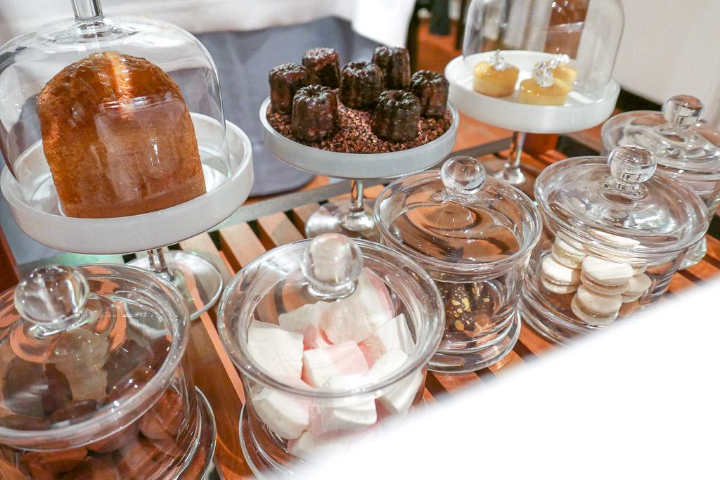 Sweets trolley at Hof Van Cleve