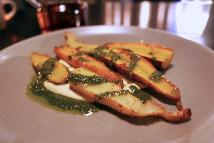 Grilled Carrot, Bearnaise, Salsa Verde