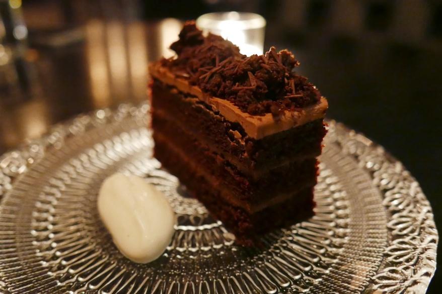 Chocolate Blackout Cake, Salted Cream, Fernet Branca