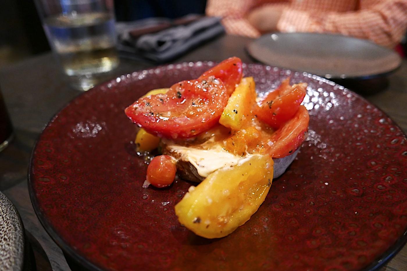 Tomato Bread, Mayo, Shallot, Pecan Oil