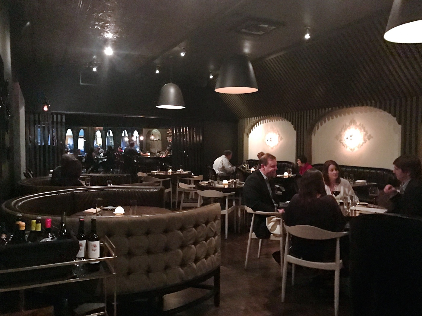 Main dining room at Boka