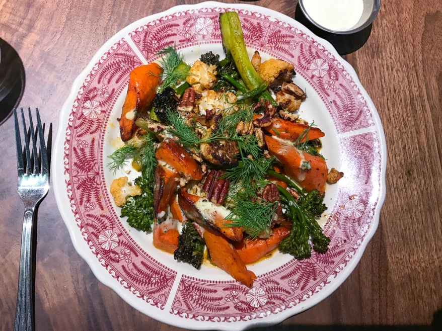 Wood Oven Roasted Vegetables, BBQ Spice, Creamy Dressing