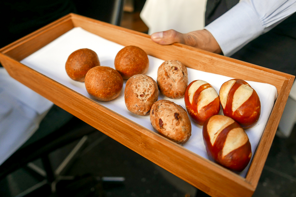 Bread choices at The Modern