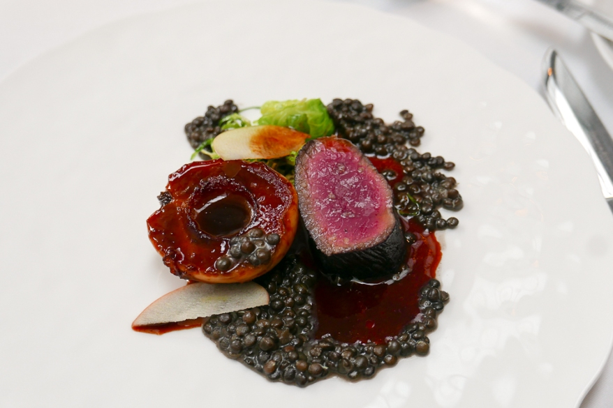 Red Wine Marinated Venison Loin with Apples