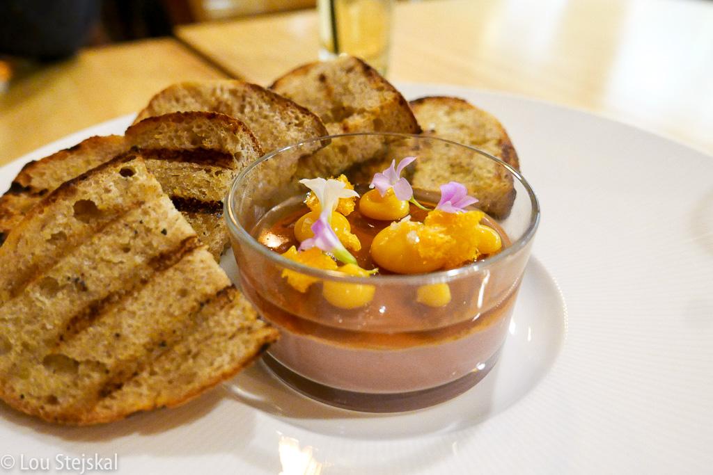 Chicken Liver Mousse, concord grape jelly, pumpkin seed butter, sourdough