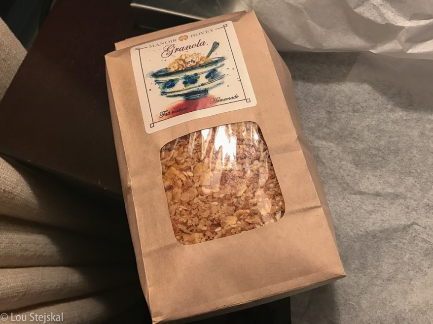 House-made granola at Manoir Hovey