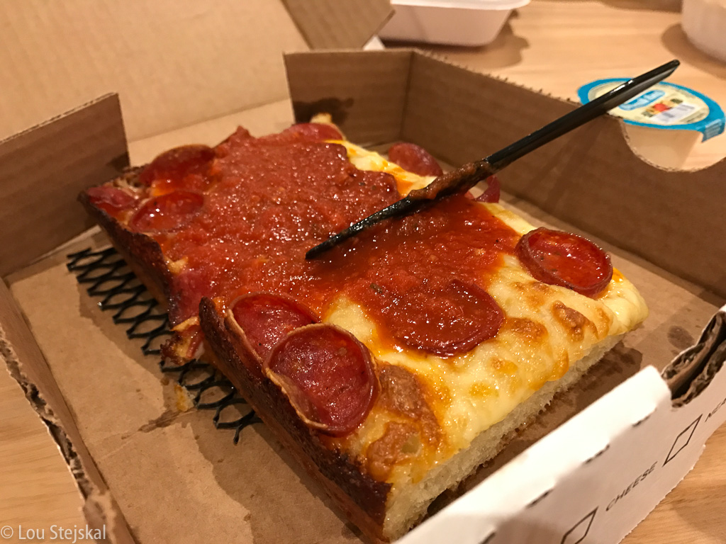 Union Squared - Pepperoni, mozzarella, brick ($8)