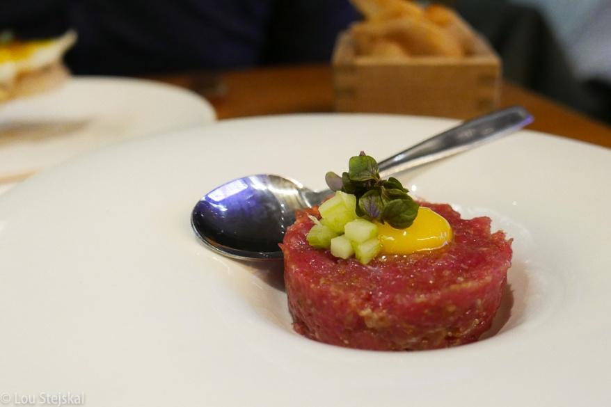 Toro Tartare, Quail Egg, Ossetra Caviar, Taro Crisp