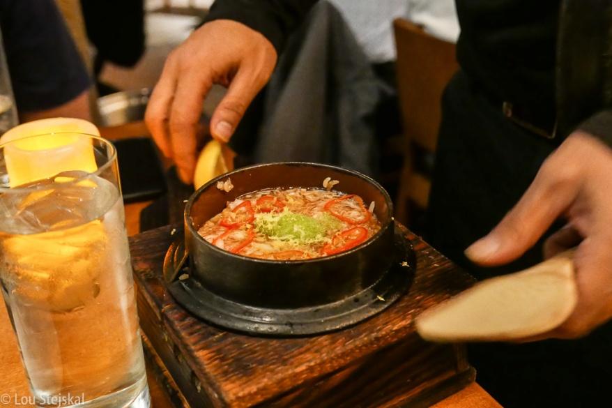 Japanese Hotpot, Sushi Rice, King Crab Sweet Corn, Wasabi, Edamame