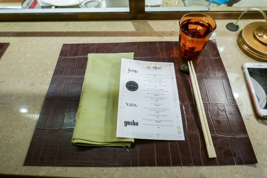 Counter seating at Nico Osteria Omakase Night
