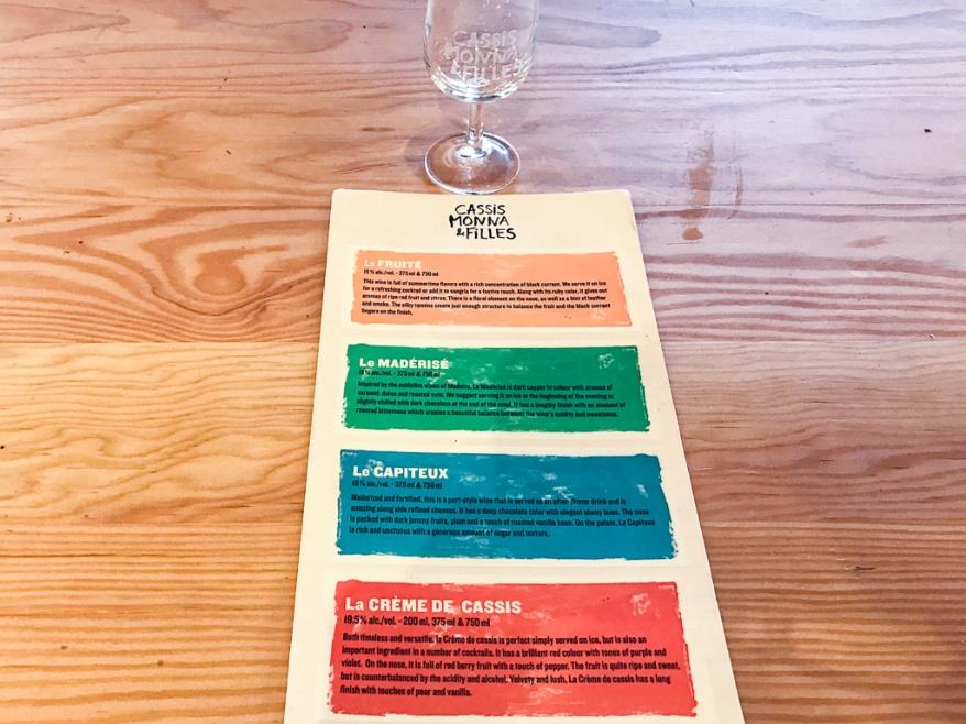 Tasting menu at Cassis Monna & Filles
